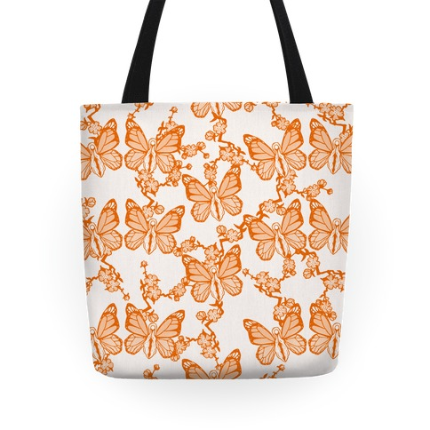 Butterfly Vagina Pattern Tote