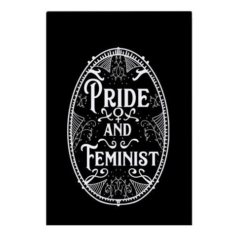 Pride and Feminist Garden Flag