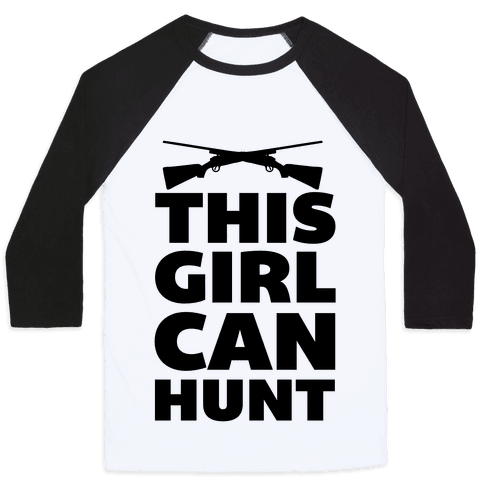 This Girl Can Hunt Baseball Tee