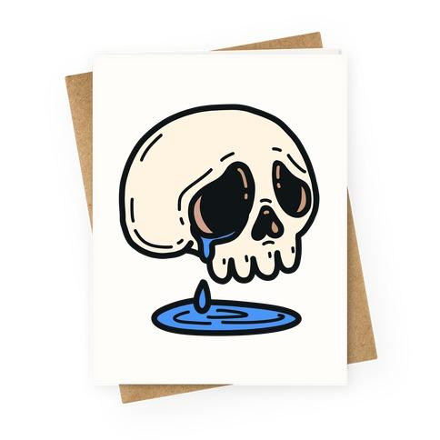 Sensitive Skull Greeting Card