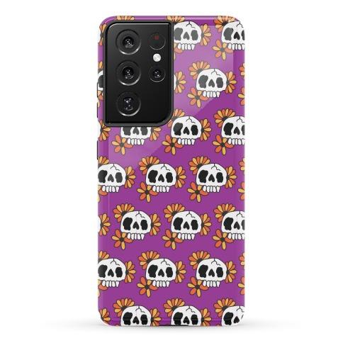 Skull Blossom Pattern Phone Case