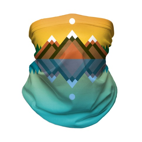 Mountain Lake Landscape Neck Gaiter