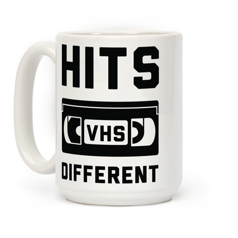 Hits Different VHS Coffee Mug