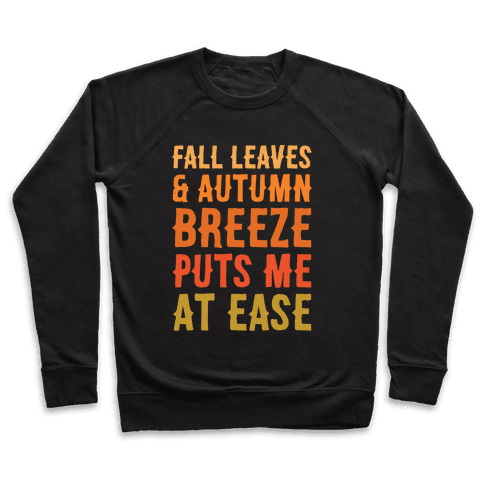 Fall Leaves & Autumn Breeze White Print Pullover