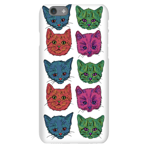Colorful Kitten Square Pattern Phone Case