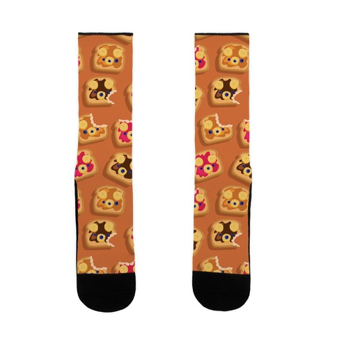 Bear Toast Pattern Sock