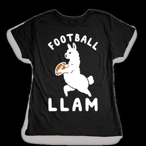 Football Llam Womens T-Shirt