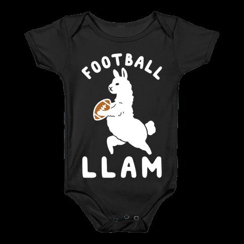 Football Llam Baby Onesy
