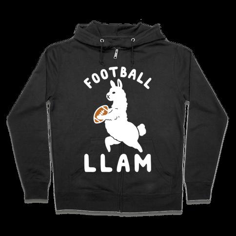 Football Llam Zip Hoodie