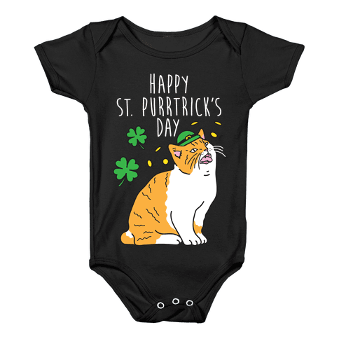 Happy St. Purrtrick's Day Baby Onesy
