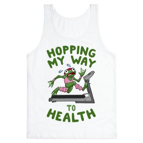 Hopping My Way To Health Tank Top