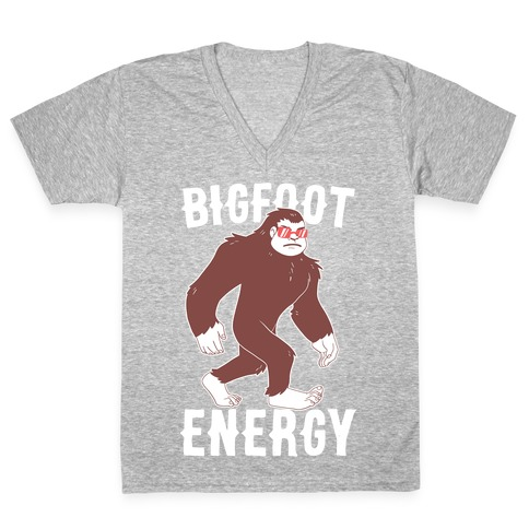 Bigfoot Energy V-Neck Tee Shirt