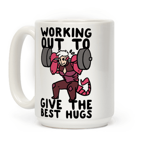 Working Out to Give the Best Hugs - Scorpia Coffee Mug