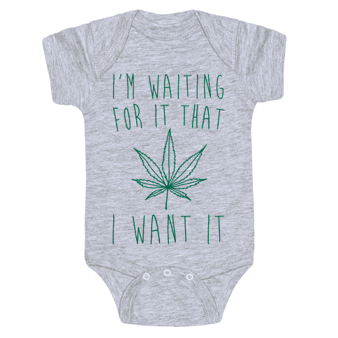 I'm Waiting For It That Green light I Want It Parody  Baby Onesy