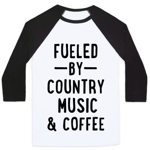 Fueled By Country Baseball Tee