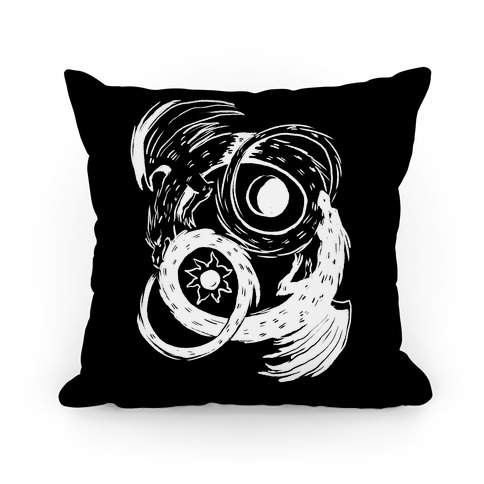 Dark-Light Ouroboros Pillow