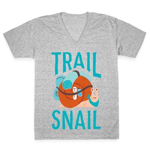 Trail Snail V-Neck Tee Shirt