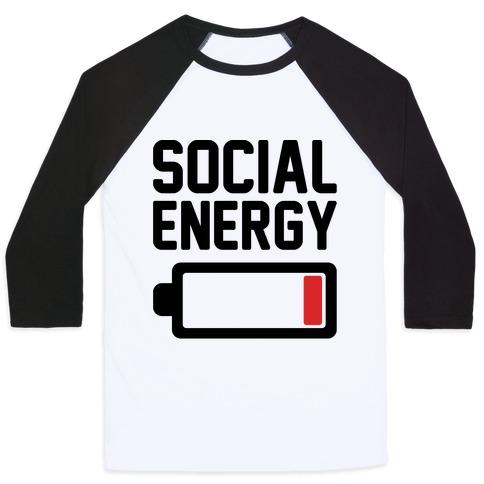 Social Energy Low Baseball Tee
