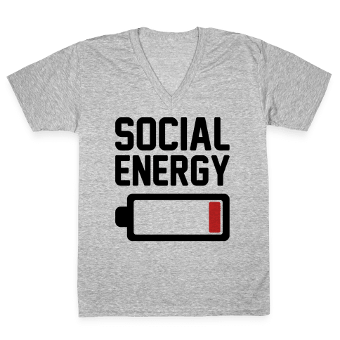 Social Energy Low V-Neck Tee Shirt