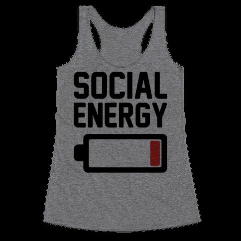 Social Energy Low Racerback Tank Top