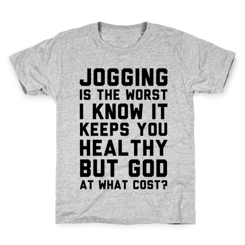 Jogging Is The Worst blk Kids T-Shirt