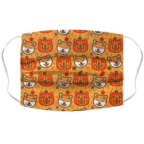Shiba Inu Pumpkins Accordion Face Mask