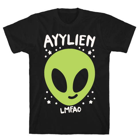 Ayylien White Print Mens T-Shirt