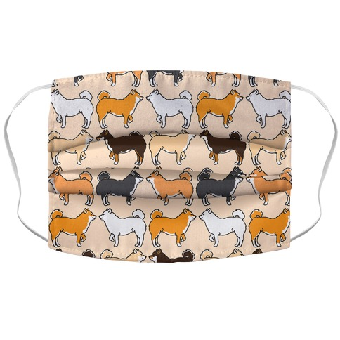 Shades of Shiba Inu Pattern  Accordion Face Mask