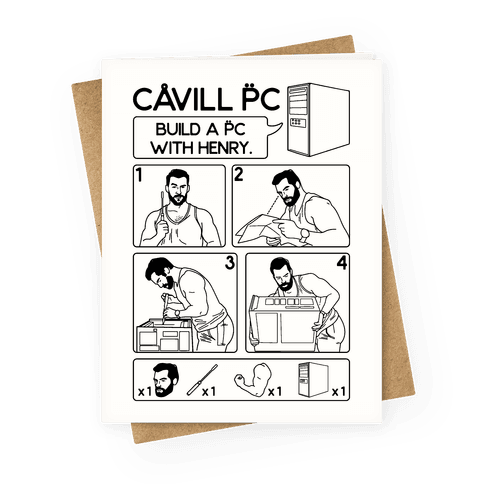 Cavill PC Parody Greeting Card