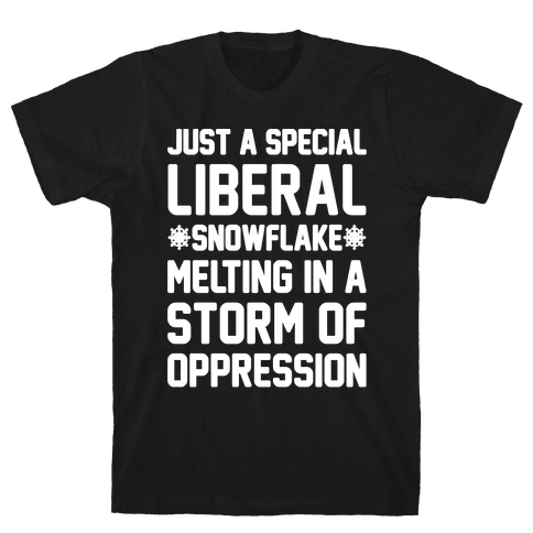 Just a Special Liberal Snowflake White Print Mens T-Shirt