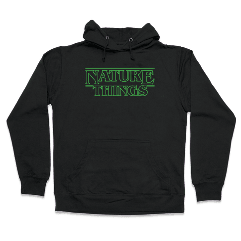 Nature Things Parody White Print  Hooded Sweatshirt