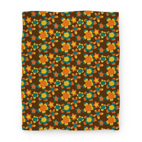 Retro Flower Power Pattern Blanket
