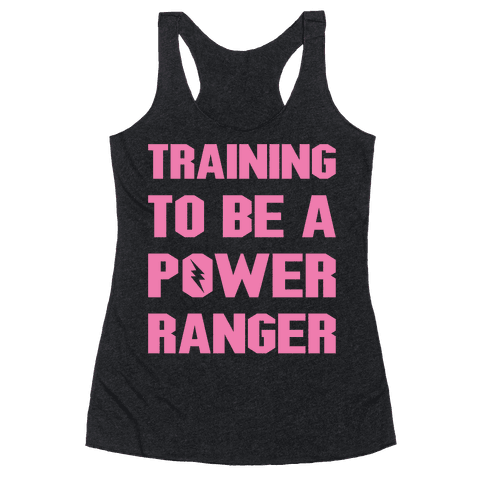 Training To Be A Power Ranger Parody White Print