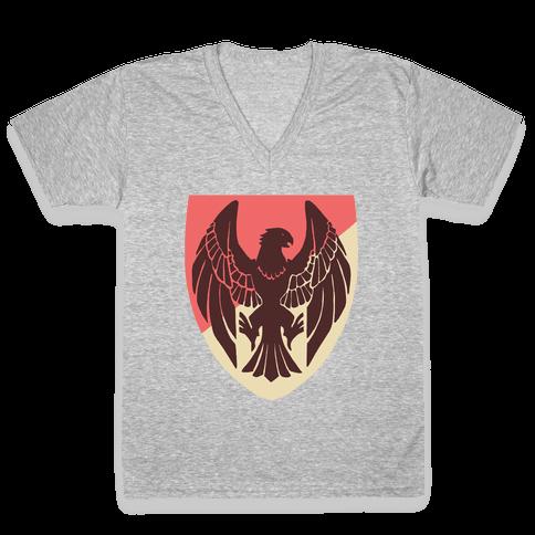 Black Eagles Crest - Fire Emblem V-Neck Tee Shirt