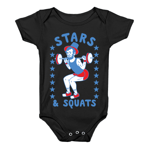 Stars and Squats Baby Onesy