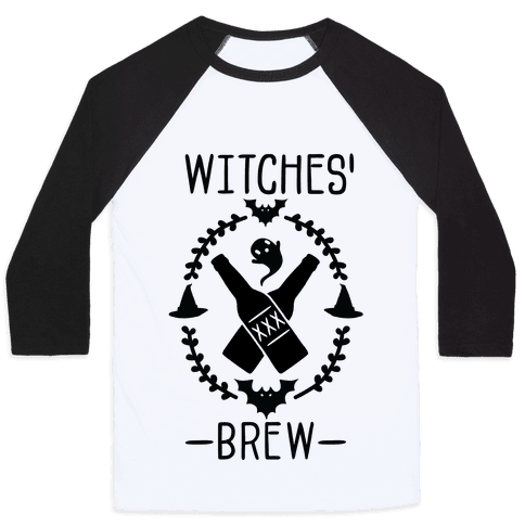 Witches' Brew Beer Baseball Tee
