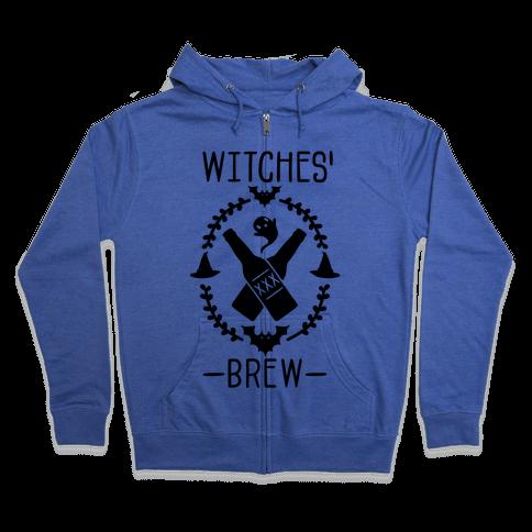 Witches' Brew Beer Zip Hoodie