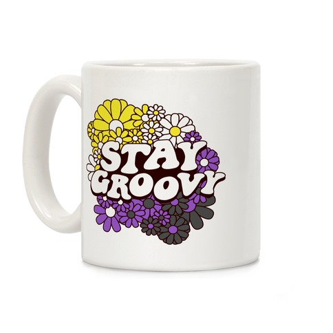 Stay Groovy (Nonbinary Flag Colors) Coffee Mug