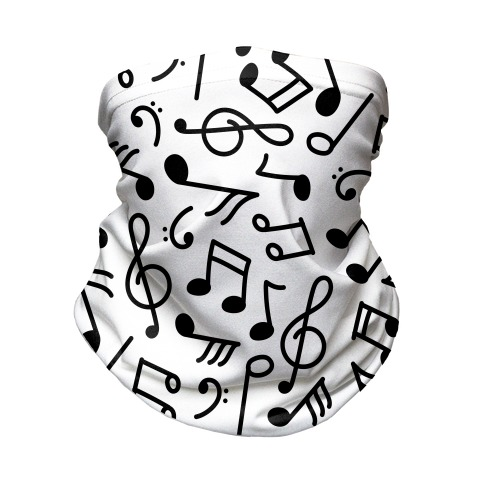 Musical Note Pattern Neck Gaiter