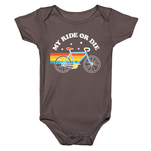 My Ride Or Die Bicycle Baby One-Piece