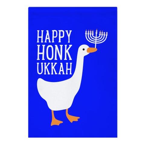 Happy Honkukkah Garden Flag