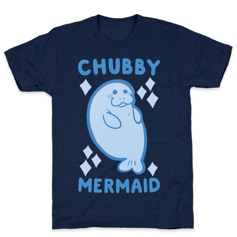 Chubby Mermaid Mens T-Shirt