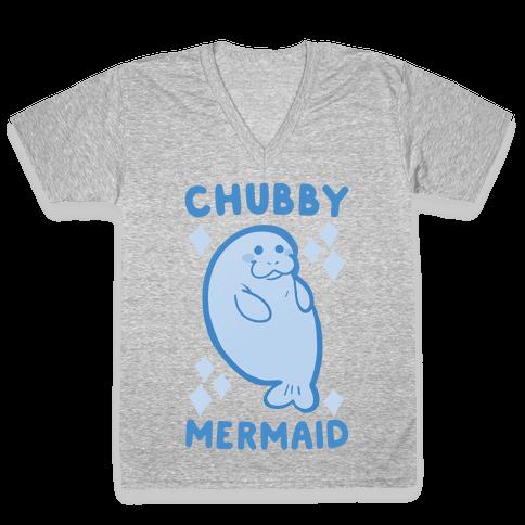 Chubby Mermaid V-Neck Tee Shirt