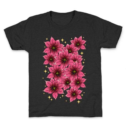 Poinsettia Bouquet Kids T-Shirt
