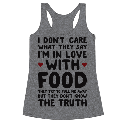 Bleeding Love For Food Racerback Tank Top