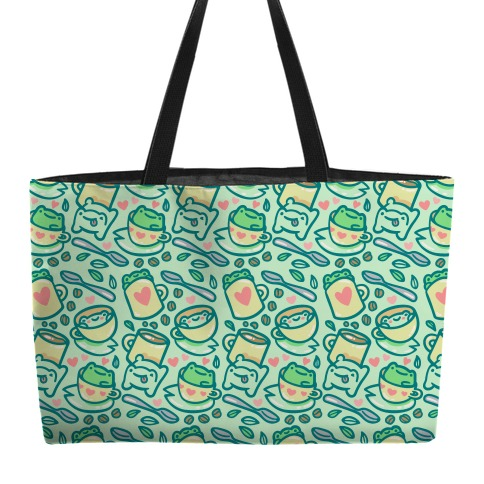 Coffee And Tea Frogs Weekender Tote