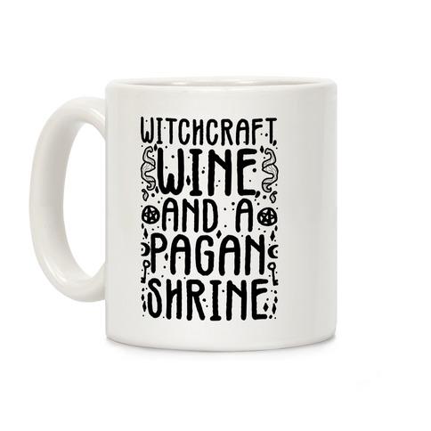 Witchcraft, Wine, and a Pagan Shrine Coffee Mug