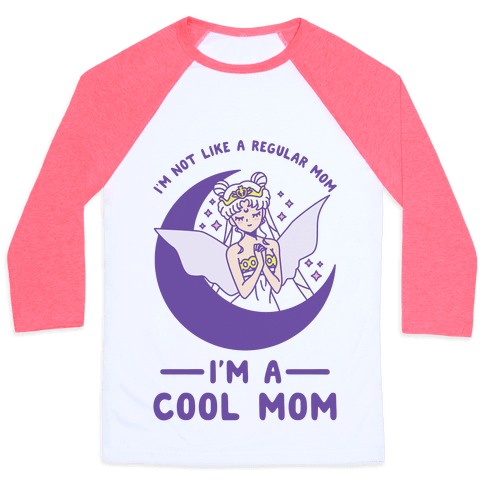 I'm a Cool Mom Neo Queen Serenity Baseball Tee