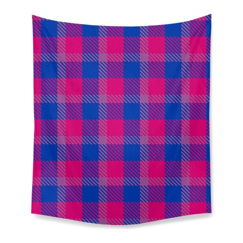 Bi Pride Flag Plaid Tapestry