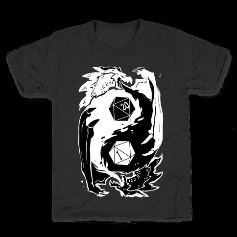 Dungeons and Dragons Yin Yang Kids T-Shirt